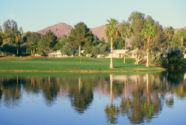 View of a pond on the course at Ahwatukee Country Club